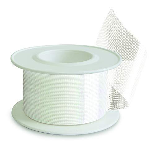 Eurotrasp (m 5 x cm 2,5) Esparadrapo Adhesivo de Polietileno Transparente y Microperforado, Permeable al aire y al vapor de agua, Adecuada para la Fijación de Dispositivos Médicos.