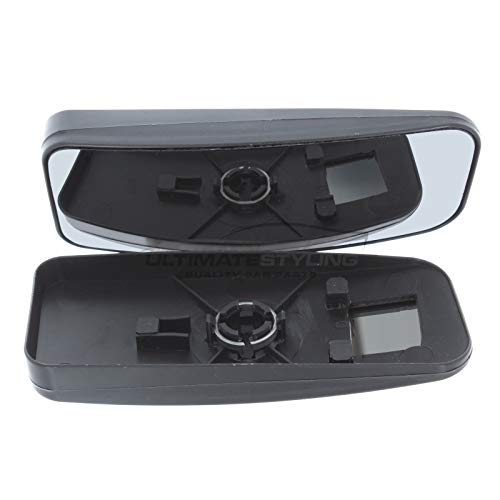 Ultimate Styling Aftermarket Replacement Non-Heated Convex Chrome Wing Mirror Glass Drivers Side RH Upper Glass