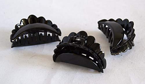 Lot de 2 pinces noires de 6 cm. Livraison GRATUITE 72h