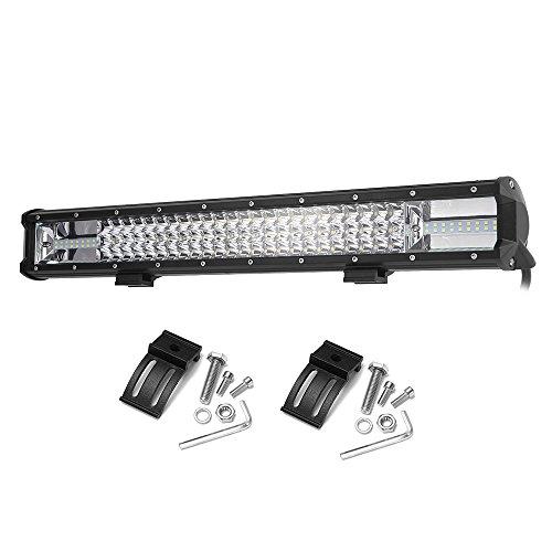 KKmoon 23 Pouces 324W Spot LED Light Bar, Phare de Travail Flood, LED Lampe pour Voiture SUV Camion RV, 12V / 24V