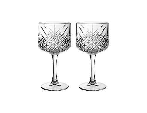 "Pasabahce 440237 Gin Cocktail Glas ""Timeless"" im Kristall-Design, Höhe ca. 20 cm, 2er Set aus Glas"