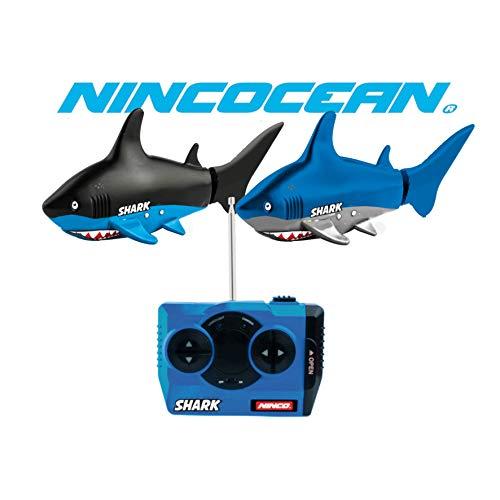 Ninco NH99024 NincOcean Shark, Tiburón teledirigido de agua dulce, Color surtido, 6 años