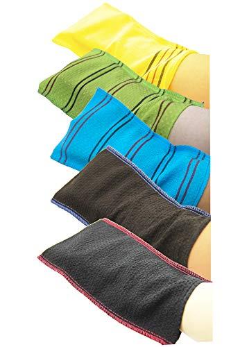 Romantic House Lot de 5 serviettes exfoliantes coréennes extra viscos pour le corps en maille rayonne 100 % spa gommage italien pour enlever les peaux mortes Taille XL Plus
