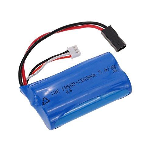 YUNIQUE Italia 1 Pezzo Batteria Li-Ion 7.4V 1500mAh per SUBOTECH BG1506 BG1507 BG1513 RC Auto