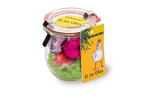 Zotter Ei im Glas - 6 Schoko-Ostereier gefüllt im Glas - 96 g - Bio & fair