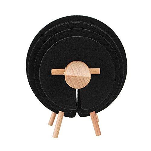 Panamami Forme Ronde Solide Couleur Dessous De Verre Dessous De Table Tasse De Tapis D/écoration De La Maison Caf/é Boisson Tasse De Table Vaisselle Gadgets