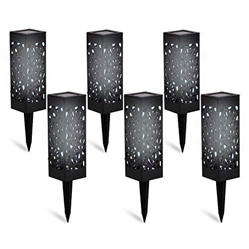 DECO EXPRESS Solarlampen für Außen, 6er Pack LED Solarlampen Fackeln, Wasserdichte Solar Laterne Set für Pool Garten, Hochzeit Dekoration Solarleuchten, Garten Geschenke