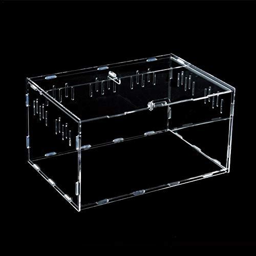 flouris Transparent Reptile Breeding Box Acrylic Feeding Box Pet Climbing Terrarium Carrier for Pet Spiders Designer