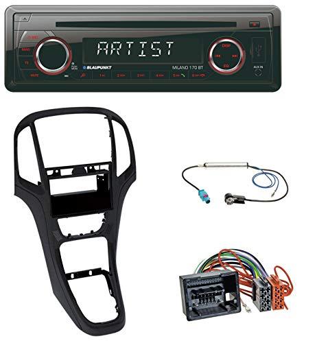caraudio24 Blaupunkt Milano 170 BT SD Bluetooth USB MP3 CD Autoradio für Opel Astra J ab 2009 Perl schwarz