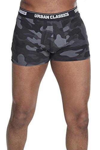 Urban Classics Herren 2-Pack Camo Boxer Shorts Boxershorts,, per pack Mehrfarbig (dark camo 00784), XX-Large (Herstellergröße: XXL)