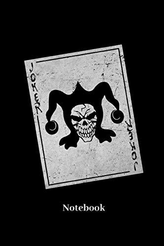 Joker Notebook: Liniertes Notizbuch für Kartenspiel, Spielkarten, Glücksspiel, Poker und Bridge Fans - Notizheft Klatte für Männer, Frauen und Kinder