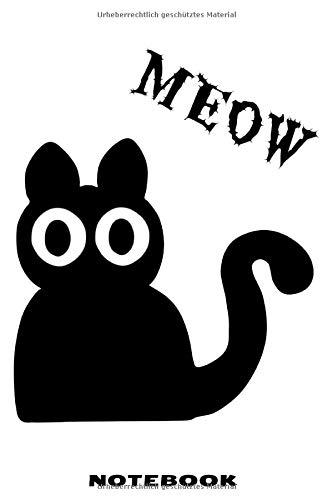 MEOW Notebook: Punktraster Notizbuch mit schräger Katze Design für Männer und Frauen