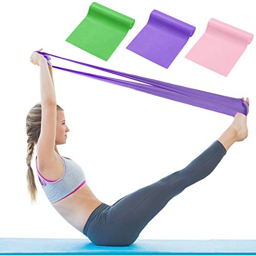 Juego de bandas de resistencia para mujeres hombres accesorios entrenamiento en casa ejercicios elásticos pilates resistencia larga bandas de yoga para perder peso gimnasio entrenamiento estiramiento