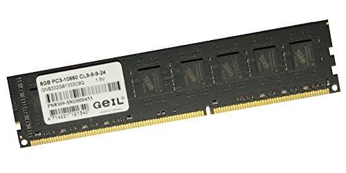 GEIL 8GB (1x8GB) DDR3 1333 MHz (PC3 10666) Desktop Arbeitsspeicher (GB38GB1333C9S) 240 polig
