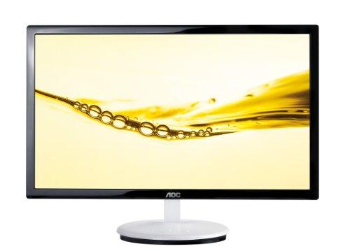 AOC E2243FW 54,6 cm (21,5 Zoll) Monitor (VGA, DVI, HDMI, 5ms Reaktionszeit) hochglanz schwarz-weiß