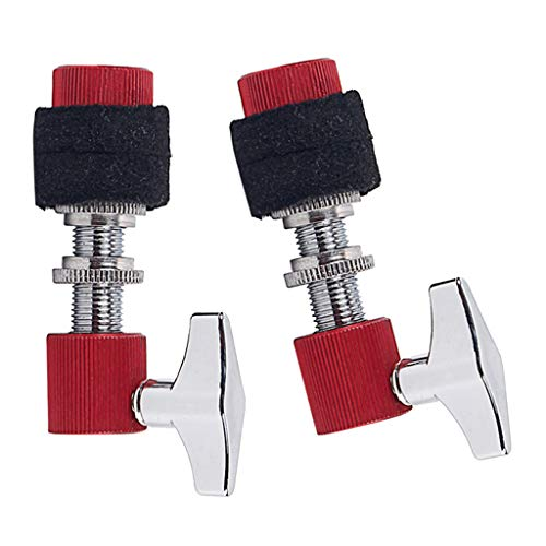 lahomia 2pc Hi-Hat Clutch Alloy Made Standard Jazz Drum Percussion Accesorios Rojo