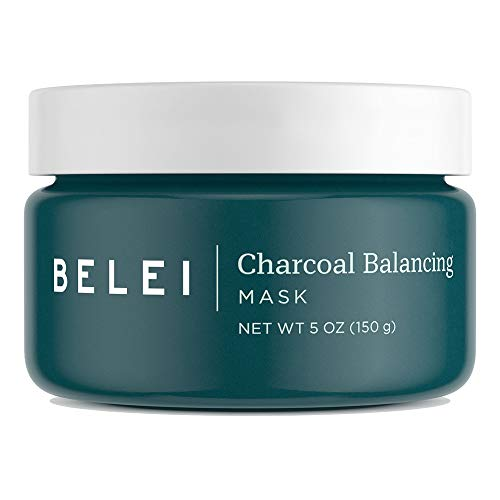 Belei by Amazon: Charcoal Balancing Mask, Fragrance Free, Paraben Free, 5 Ounce (150 g)