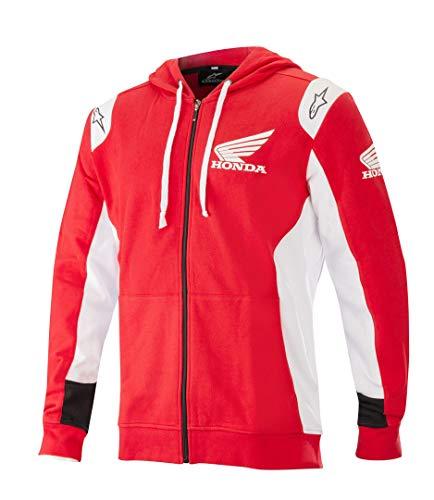 Alpinestars Honda Zip Hoodie Rot/Weiß XXL
