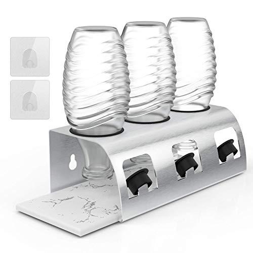 Sodastream Flaschenhalter,3er Premium Sodaclean Abtropfhalter aus Edelstahl Abtropfständer mit Abtropfwanne für SodaStream Crystal | Emil Flaschen