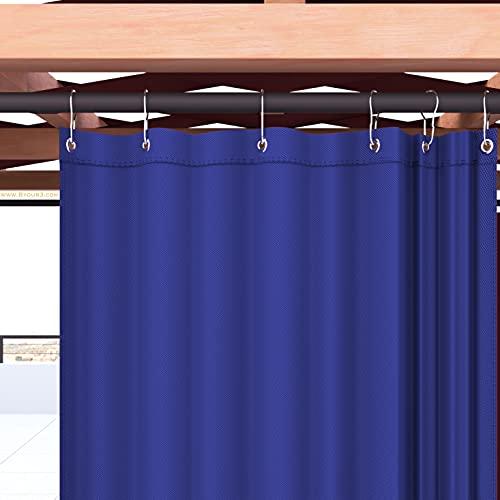 Byour3 Toldos Para Exteriores Con Anillos A Caída Impermeable Tela A Prueba De Moho Lavable Parasoles Laterales Gazebo Pérgola Balcon Porche (Azul Royal Calidad A ++, A.350 x 315L. cm)