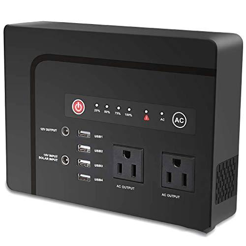 CCFCF Tragbarer Power Station, 42000mAh 200W Akku Generator mit USB-C-Schnellladung QC 3.0, für Camping Emergency Outdoor