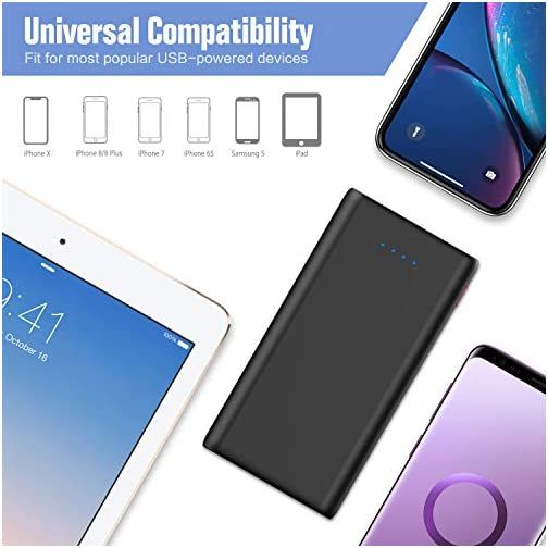 Portable Charger Power Bank 25800mAh, Ultra-High Capacity Fast Phone Charging with Newest Intelligent Controlling IC, 2 USB Ports External Cell Phone Battery Pack for iPhone,Samsung Android,Table etc 4