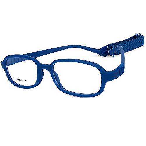 Children Optical Glasses Frame TR90 Flexible Bendable One-piece Safe Eyeglasses Girls Boys Square