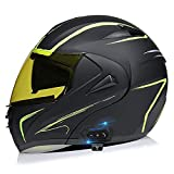 Bluetooth Integrado Casco De Moto Modular Con Doble Anti Niebla Visera Cascos De Motocicleta ECE Homologado Forro Ventilado Y Transpirable Respuesta Automática ( Color : E , Size : M/Medium 57-58cm )