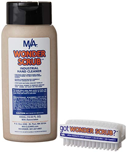 Wonder Scrub Industrial Hand Cleaner (400 ml & brush)