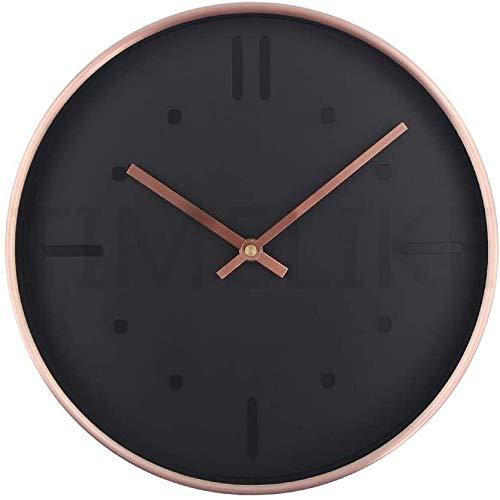 ZHPBHD Diseñador Silencio del Estilo del Reloj del Metal del Cuarzo Reloj de Pared del Reloj de Pared del Reloj Quiet la decoración del hogar 30x30cm