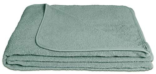 KiGATEX Frotteedecke Sommerdecke softig weich 100prozent Baumwolle 150x200 cm Öko-Tex Zertifiziert (Jade)
