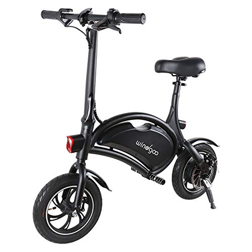 TOEU Electric Bike, Urban Commuter Folding E-bike, Max Speed 25km/h, 12inch Super Lightweight, 250W/36V Removable Charging Lithium Battery, Unisex Bicycle