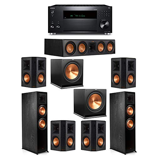 Lowest Prices! Klipsch 7.2 System with 2 RP-8000F, 1 Klipsch RP-504C, 4 Klipsch RP-502S, 2 Klipsch R...