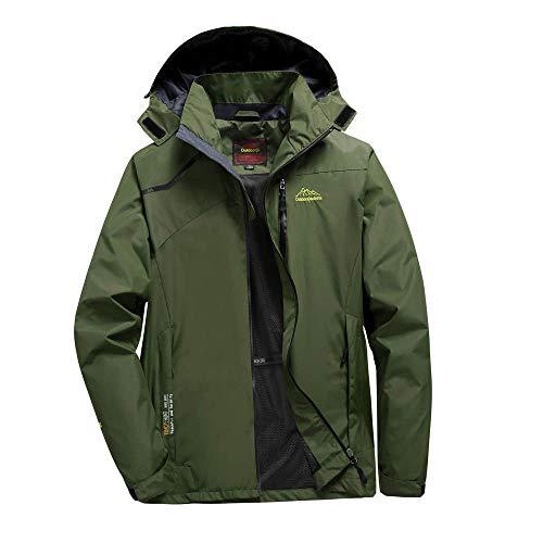 Zarupeng heren/dames sport softshell jack hoodie waterdichte slim fit jas met capuchon ritssluiting grote maat dunne outdoor jas