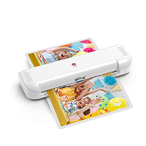 Laminator Machine, Willing Thermal Laminator for A4/A6, Personal Laminator for Home Use School Teachers Office Card Classroom, 9 inches, Lightweight and Portable