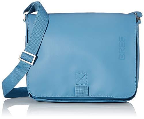 BREE Unisex-Erwachsene PNCH 61 shoulder bag Umhängetasche, Blau (Provincial Blue), 6x21x26 cm