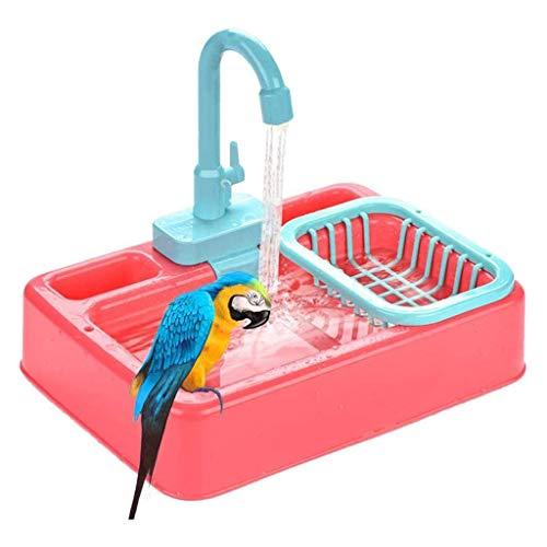 qwe XISABCS Balcón del alimentador del pájaro Decorativo, alimentador del colibrí for el baño diversas Aves y Mascotas