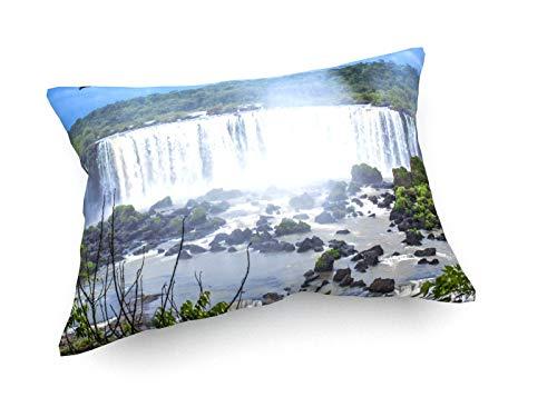 weewado André Damásio Ferreira Delfino - Cascada Iguazú - 60x40 cm - Cojines del sofá - Arte, Imagen, Pintura, Foto - Landscape