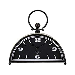 IMAX Chester Metal Clock Silver