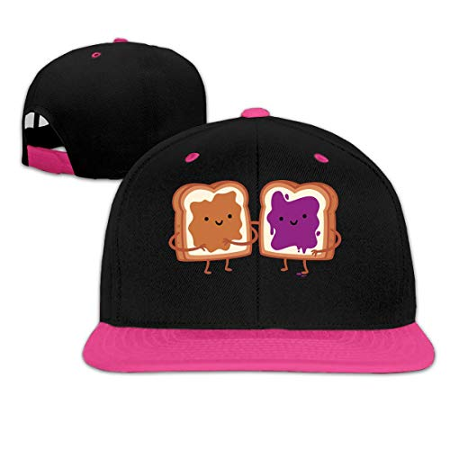 Ccsoixu Peanut Butter and Jelly Unisex Hiphop Flat Bill Snapback Hats Women Men Adjustable Baseball Cap Hats