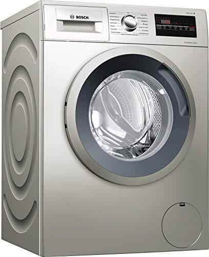 Bosch WAN282VX Serie 4 Waschmaschine Frontlader / A+++ / 157 kWh/Jahr / 1400 UpM / 7 kg / silber-Inox / Nachlegefunktion / EcoSilence Drive