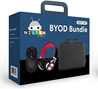 """NZSTEM Laptop/Notebook 14"""" Education BYOD Kit Include one 14"""" Hard Shell Case, one Wired Foldable Headset and one Wired Mouse."""