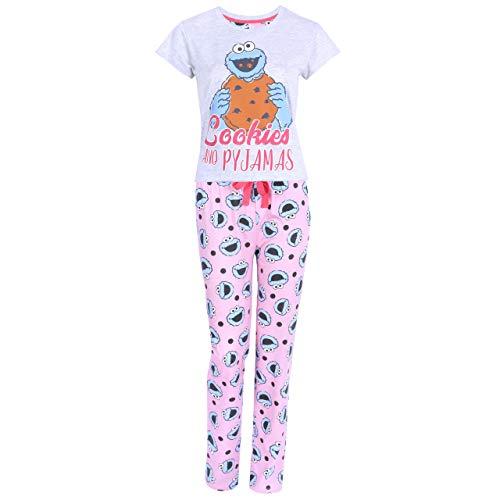 Sesame Street Grau rosa Pyjama vom Krümelmonster - XS