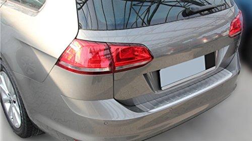 Edelstahl Ladekantenschutz Abkantung MATT gebürstet kompatibel für VW Golf 7 Variant ab 2012