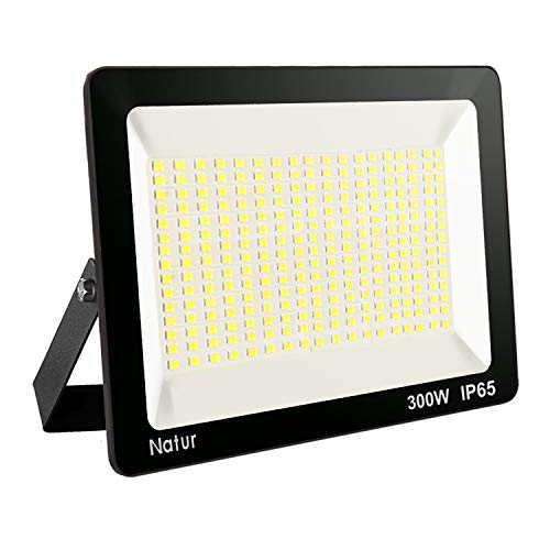 300W LED Strahler Außen 3000K Led Flutlicht Außenleuchte Superhell LED Fluter Außenstrahler IP65 LED Scheinwerfer Warmweiß Licht für Garten, Garage,Sportplatz Energieklasse A++