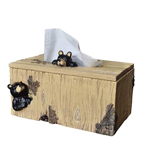 ZJHDX Couvercle for boîte à mouchoirs en Bois - Support for boîte à mouchoirs for Le Visage, boîte à mouchoirs for Salle de Bains, Table de Nuit, Bois Naturel