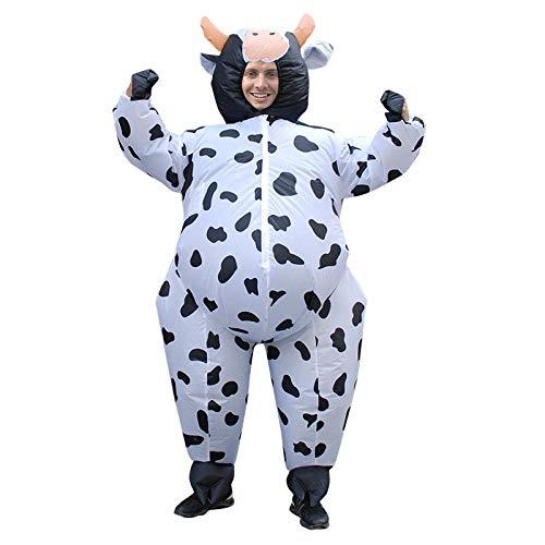 Meixiang Aufblasbare Halloween-Kleidung, Partykostüme, Weihnachtspartys, Rollenspiele, Unisex - Erwachsene, Einheitsgröße, Kühe