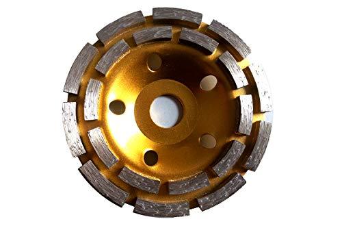 Diamantschleifteller Schleifscheiben Ø 115-230 mm 22.23mm Loch Schleiftopf mit Doppel Zahn (Doppel Zahn DM 125 mm)
