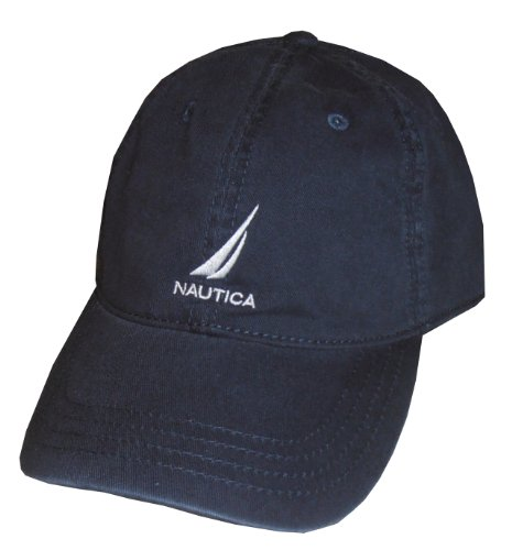Nautica - Gorra ajustable para hombre, talla única, color azul marino