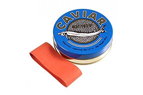 Kaviardose - dunkelblau, mit Verschluss-Gummi, ø 8 cm, für 125g Kaviar, 1 St